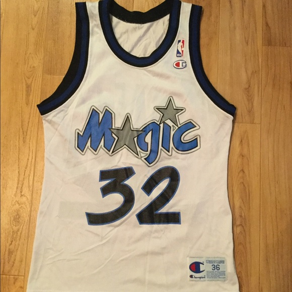 a566115be01 Champion Shirts   Vtg Shaquille Oneal Sz36 Magic Jersey   Poshmark